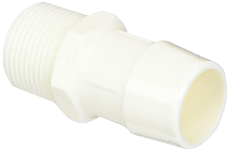 Eldon James A12-16WN White Nylon Adapter Fitting, 3/4-14 NPT to 1'' Hose Barb (Pack of 10) by Eldon James (Image #1)