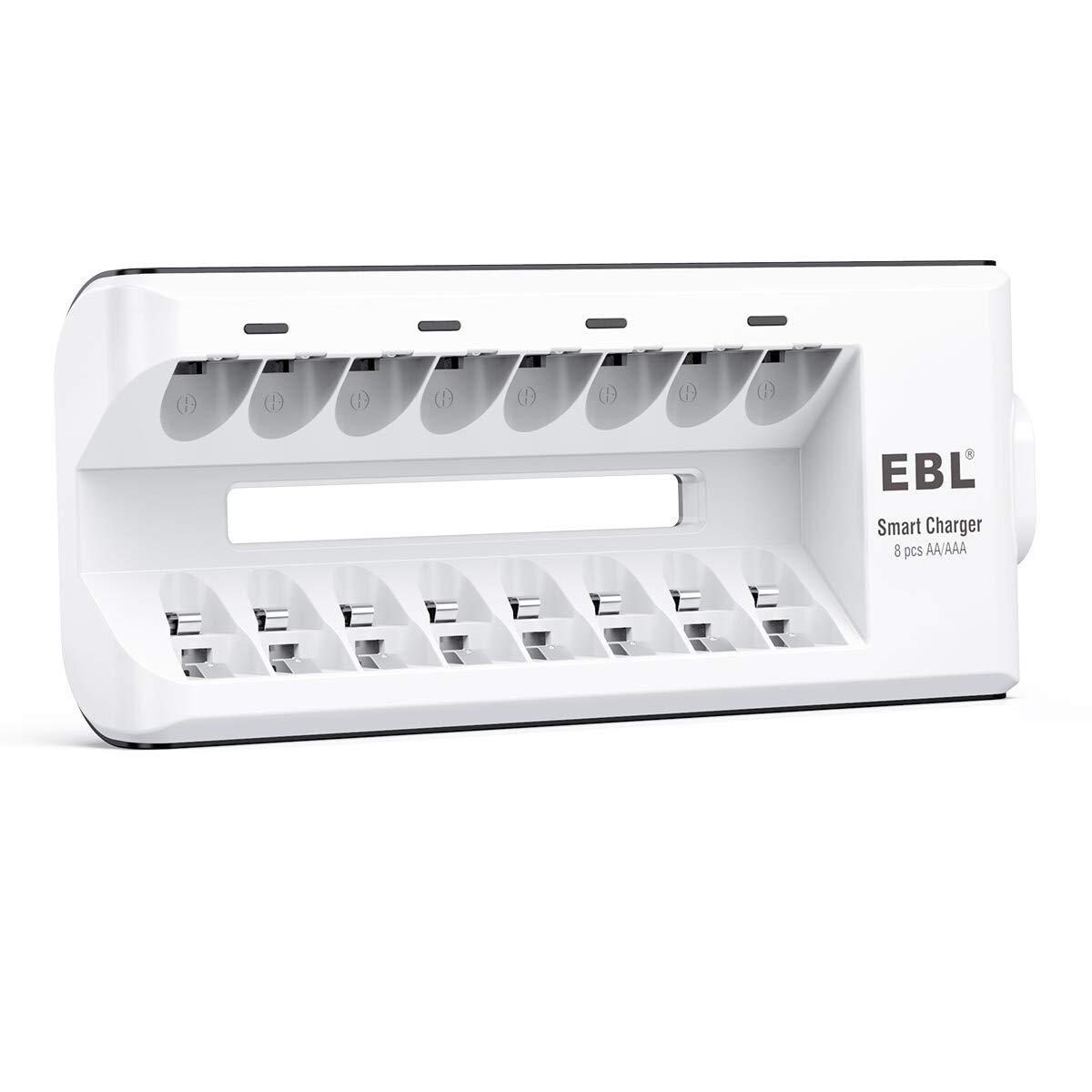 EBL - 8 Ranuras Cargador de Pilas de AA AAA Ni-MH Ni-CD Baterías Recargables