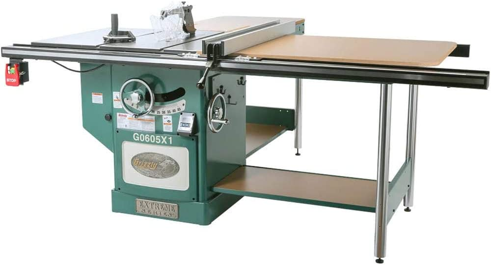 Grizzly Industrial G0605X1-12 5 HP 220V Extreme Table Saw