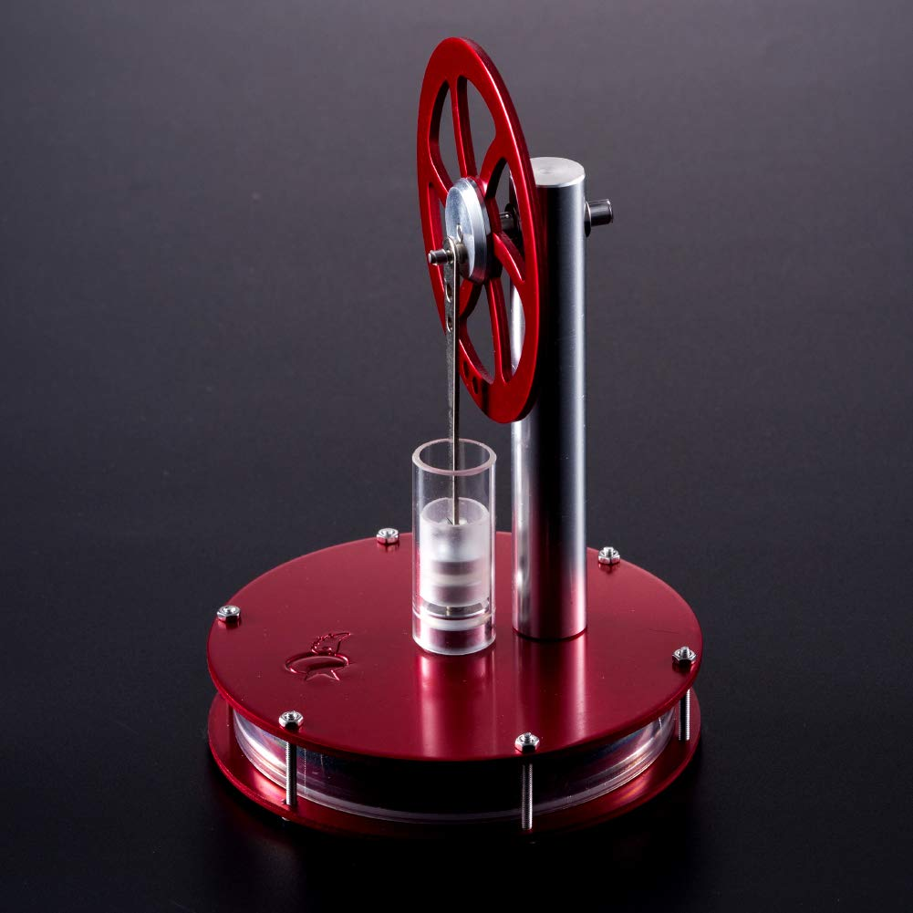 At27clekca Low Temperature Metal Stirling Engine Motor Model Aluminum Alloy Kids Steam Heat Science Educational Toy Red by At27clekca (Image #5)