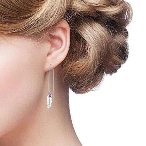 JUSTKIDSTOY 18K Handmade Threader Earrings, Multiple Ways to Wear Threader Tassel Earrings, Hypoallergenic 925 Sterling Silver Drop Threader Earrings for Women Girls by JUSTKIDSTOY (Image #3)