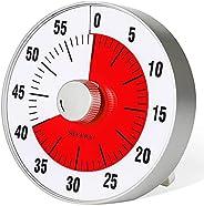 Secura Temporizador de contagem regressiva visual grande de 19 cm, temporizador de cozinha de 60 minutos | fer