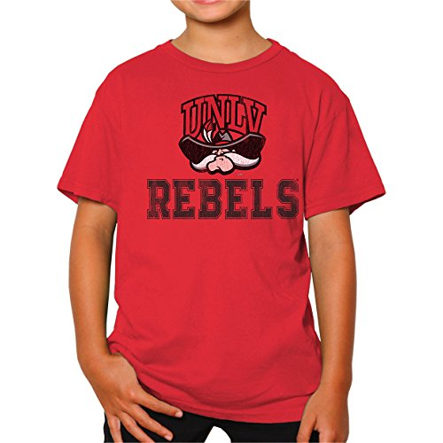 NCAA UNLV Rebels Youth Boys Tee, Large, Red Unlv Rebels T-shirt