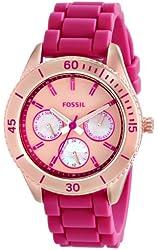 Fossil Women's ES3535 Stella Analog Display Analog Quartz Pink Watch