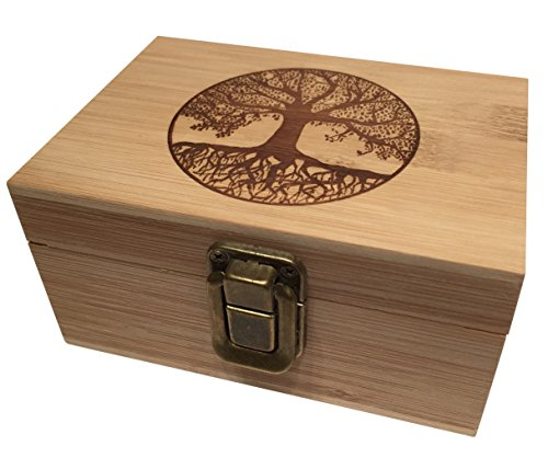 Tree-of-Life-Bamboo-Wood-Stash-Box-Engraved-with-Metal-Latch-Rolling-Papers-Jewelry-Wooden-Decorative-Premium-Quality-Gift-for-Home-Medium