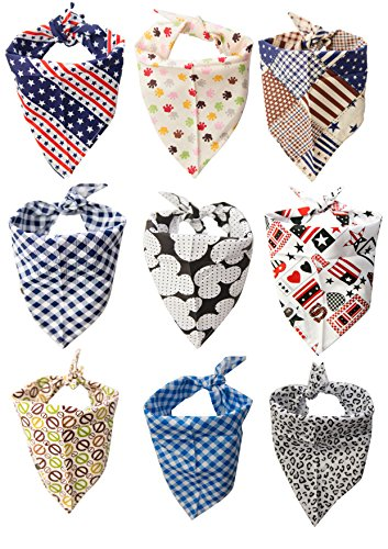 Bandana Drool Bibs by Ashtonbee (9 Pack) - Cute Baby Accessory for Boys and Girls, Super Absorbent Cotton, Can Be Worn as Scarf or Bandana, Make For Perfect Gifts, Stylize Your Baby Now! (Bib Beatles)