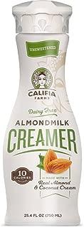 product image for Califia Farms Unsweetened Almondmilk Coffee Creamer with Coconut Cream, 25.4 Oz (Pack of 6) | Dairy Free | Whole30 | Keto | Vegan| Plant Based | Nut Milk | Non-GMO