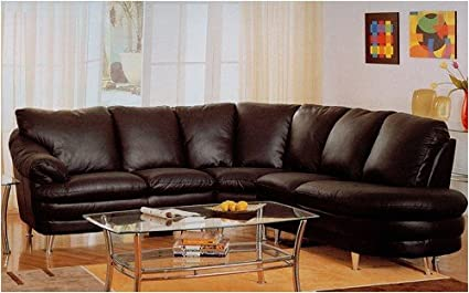 Amazon.com: Modern Style Delano Black Leather Media ...
