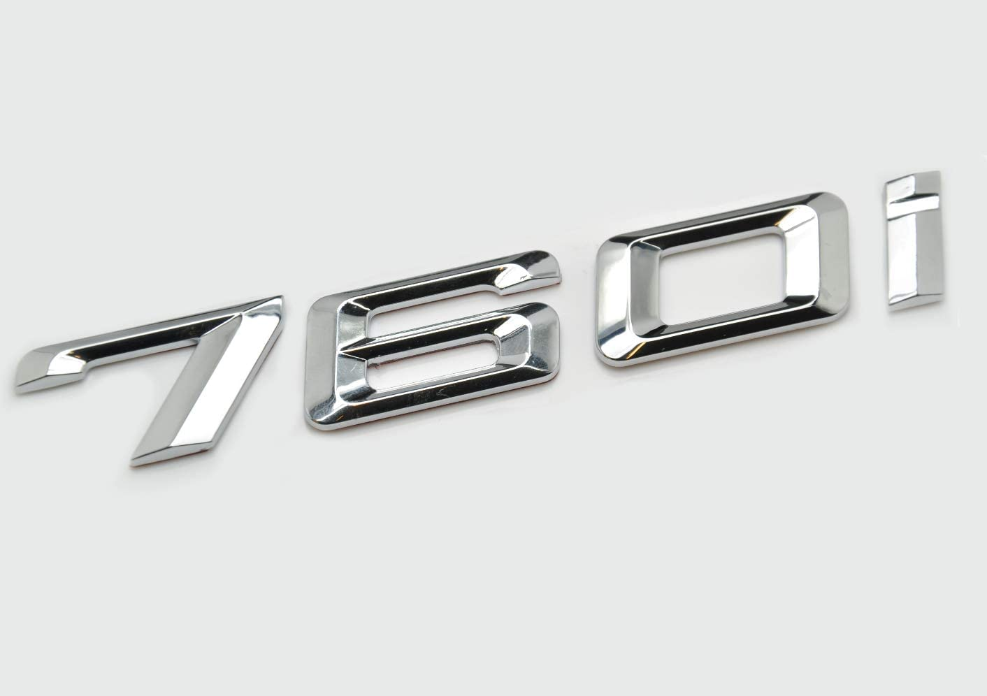 Chrome argent/é 740i Insigne de voiture mod/èle embl/ème chiffres lettres pour 7 Series E38 E65 E66E67 E68 F01 F02 F03 F04 G11 G12