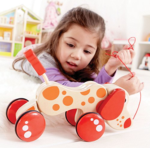 Award Winning Hape Walk-A-Long Puppy Wooden Pull Toy