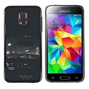 LECELL--Funda protectora / Cubierta / Piel For Samsung Galaxy S5 Mini, SM-G800, NOT S5 REGULAR! -- Cars Vignette Street Road Drive --