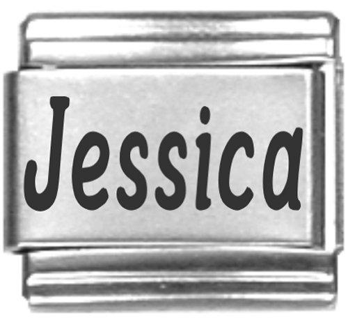 Jessica Laser Name Italian Charm Link