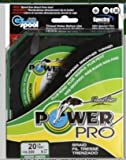 Power Pro Spectra Fiber Braided Fishing Line, Moss Green, 300YD/20LB