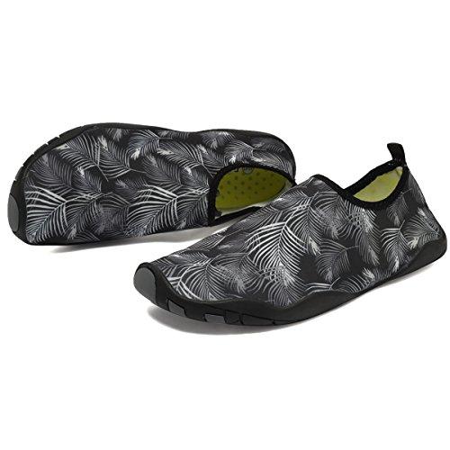 CIOR Multifunktionale Barfuß Schuhe Männer Frauen Quick-Dry Wasser Schuhe Aqua Socken Für Strand Pool Surf Yoga Schwarz02