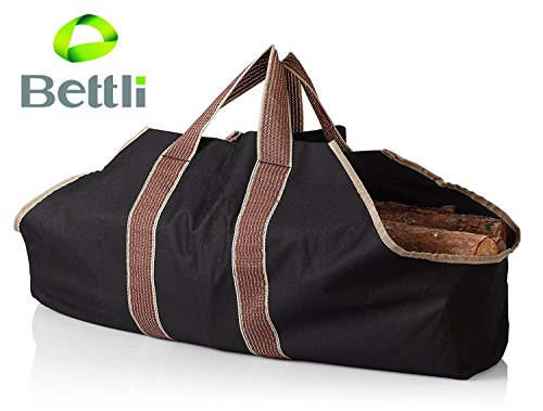 Bettli Heavy Duty Canvas Firewood Carrier & Log Tote, Log Holder, Best For Carrying Wood by Bettli