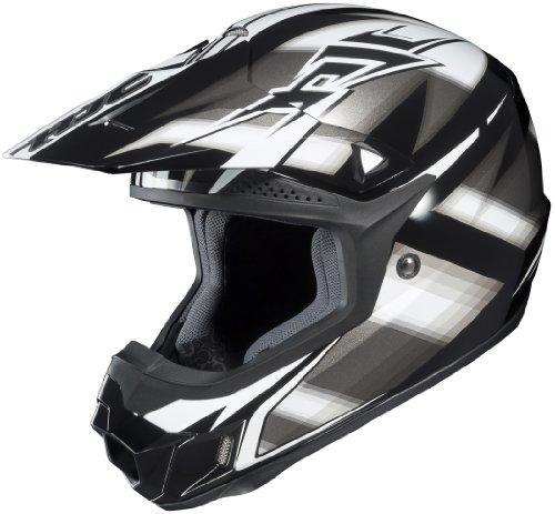 HJC CL-X6 Spectrum Off-Road Helmet (Black/Silver/White, XX-Large)