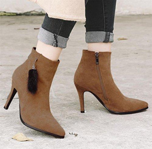 Chaussures Talons Pointu Tempérament Mode Chaussures Elégant de Yellow Talons de personnalité Hautes Féminine HETAO 7w0qRa8z