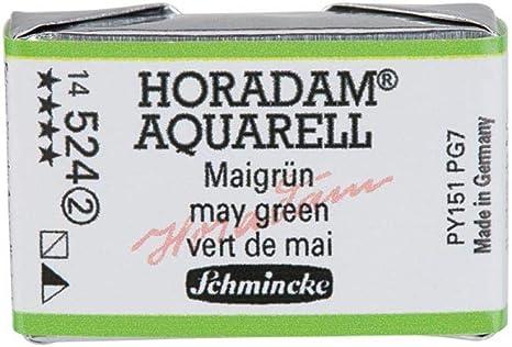 Schmincke HORADAM Aquarell Olivgruen gelblich Aquarell  14 525 043 1//1 Naepfchen