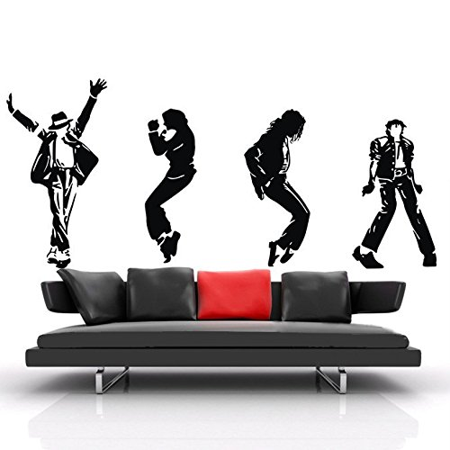 Michael Jackson Dancing Life vinyl Art Wall Sticker Home Decor Decal Mural - Jackson Decal