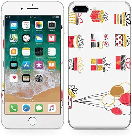 igsticker iPhone8 Plus 専用スキンシール 全面スキンシール フル 背面 側面 正面 液晶 ステッカー 保護シール 015932 プレゼント 風船 誕生日