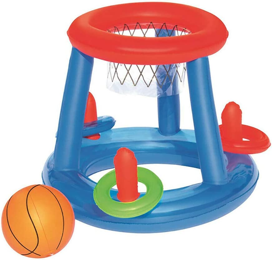 Swimming Pool Toy Includes Water Basketball Hoop PKKJ Floating Pool Basketball Game Balls and Rings