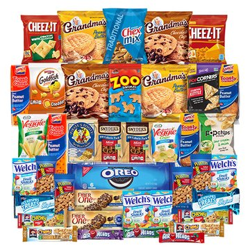 College Care Package - Chips, Cookies, Candy Assortment Bundle Gift Pack and Variety Box 40 Count by Veratify