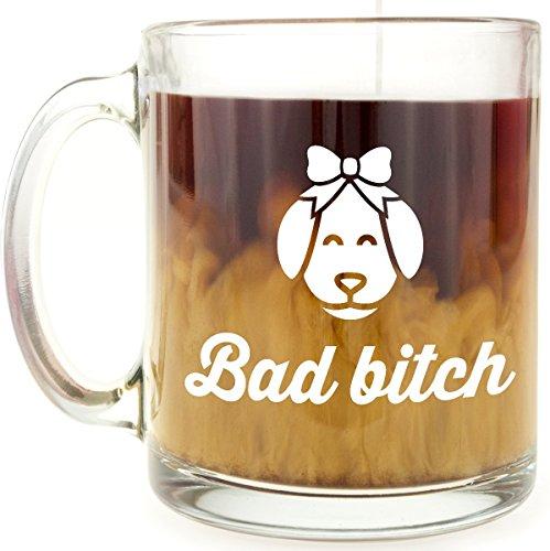 Mug Bad (BFF Mug - Bad bitch - 13 OZ Glass Coffee Mug - Gift for BFF, girlfriend, woman)