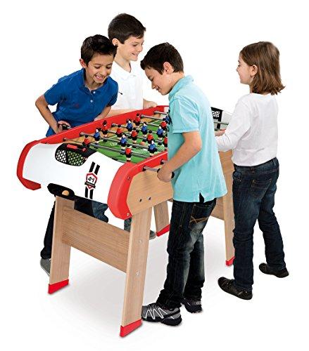 Smoby - 640001 - BabyFoot - Powerplay 4 en 1 - BabyFoot - Ping -Pong -  Hockey et Billard - Structure Bois - Accessoires Inclus  Amazon.fr  Jeux et  Jouets 5141c7cbefe5