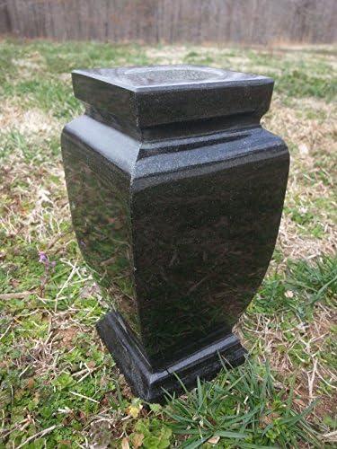 Classic Granite Vase 4 x4 x8 Black