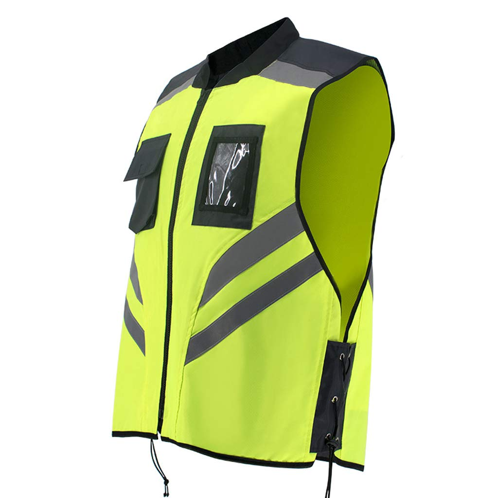 Large Reflective Clothing Engineering Application Fluorescent Cotton Vest Safety Clothes Winter Vest Safety Vest (Size   L)
