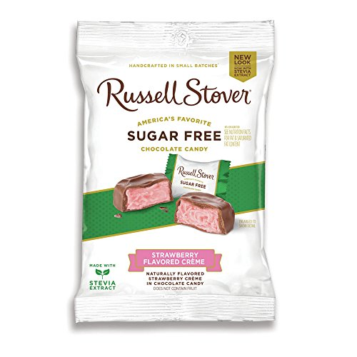 Russell Stover Sugar Free Strawberry Cream, 3 oz. Bag