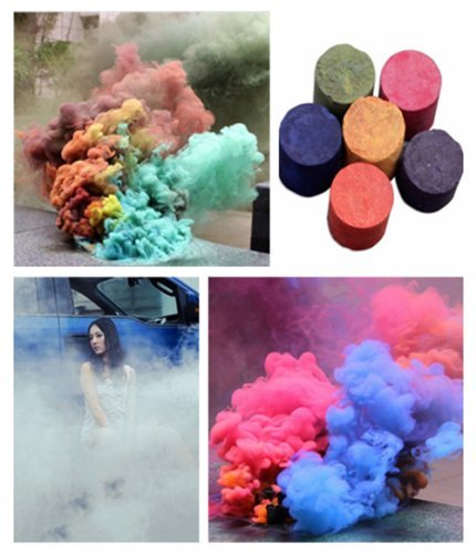 Smoke Color - Mandorra 6pcs 6 color Smoke Colorful Effect Show Round Stage Photography Aid Toy KSOP FOG