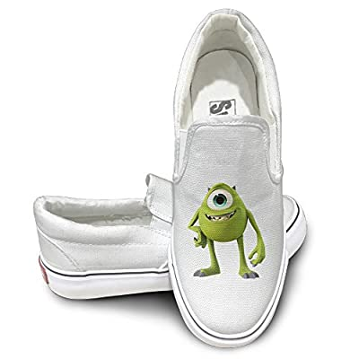 Amone Monster One-eye University Casual Unisex Flat Canvas Shoes Sneaker White