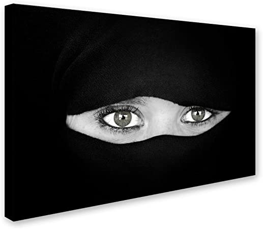 The Language Of The Eyes By Juan Luis Duran 16x24 Inch Canvas Wall Art Home Kitchen