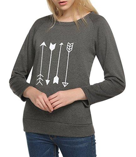 Womens Sweatshirt Crewneck Raglan Pullover