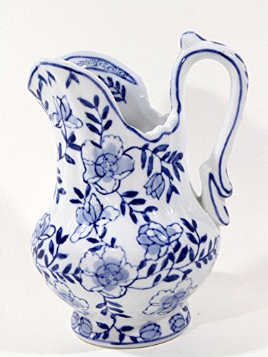 Flowered Pitcher - Blue Flowered 6