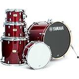 "Yamaha Stage Custom Birch 5pc Drum Shell Pack - 22"" Kick, Cranberry Red"