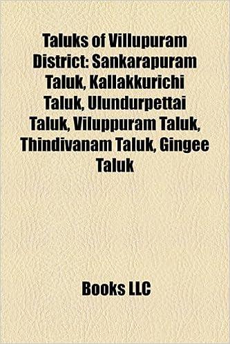 Amazon in: Buy Taluks of Villupuram District Book Online at Low