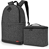 Amzbag Camera Bag DSLR Camera Backpack Case [Backpack+Briefcase] Water-resistant Nylon Camera Case (Black)