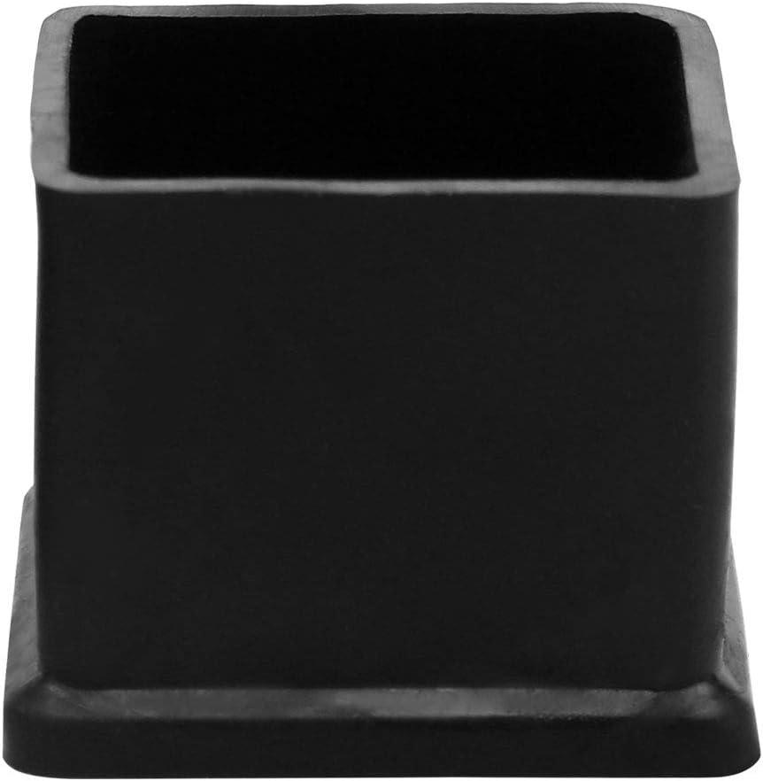 Tapas de goma para patas de silla tama/ño interior protector de piso de 25 x 25 mm reduce el ruido y evita ara/ñazos para patas de muebles Sourcingmap