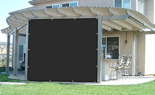 Patio Lawn,3M/×5M Pa/ño De Sombra Negro Borde Con Cinta Con Ojales Sun Net Malla De Malla Solar Bloqueador Solar Vela Red Resistente A Los Rayos UV Para Cubrir Plantas Para Flores De Invernadero Plantas