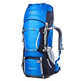 MOUNTAINTOP 70L+10LWater-Resistant Internal Frame Backpack Hiking Backpack Bag Rain Cover Trekking,Climbing,Camping,Hiking,Travel Mountaineering-5805II For Sale