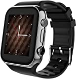 Scinex SW20 Smart Watch for Android and iPhone with 16GB Memory, Pedometer Smartwatch for Men and Women, Sleep Monitor, compatible with Cell phone (Samsung, Google Pixel, Huawei, LG) - (Silver/Black)