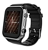 Scinex SW20 Smart Watch  for Android and iPhone with 16GB Memory, Pedometer Smartwatch for Men and Women, Sleep Monitor watch, Compatible with Cell phone, Warranty included (Silver/Black)