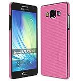 Skinomi TechSkin - Samsung Galaxy A5 Screen Protector + Pink Carbon Fiber Full Body Skin Front & Back Wrap / HD Clear Film / Ultra Invisible & Anti-Bubble Shield