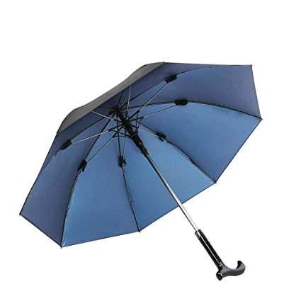 Xqr Muletas Paraguas Multi-Función De Ancianos Al Aire Libre Barra De Caña Paraguas Separables
