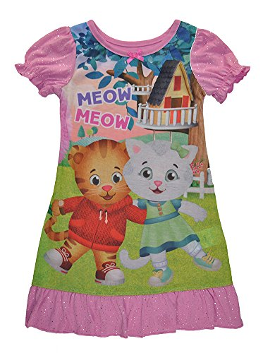 Daniel Tiger Toddler Girls' with Katerina Nightgown, Pink, 3T (Tigers Apparel Toddler)