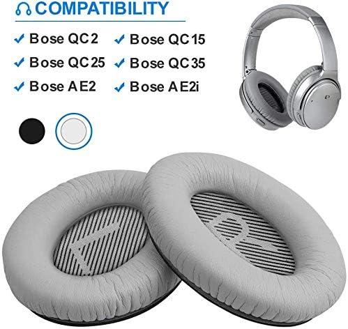 [スポンサー プロダクト]イヤーパッド 交換用ヘッドホンパッド イヤークッション Bose QuietComfort 2,QuietComfort 15,QuietComfort 25,QuietComfort 35 35II,AE2,AE2i,AE2w,SoundTrue,SoundLink 対応 (Silver)