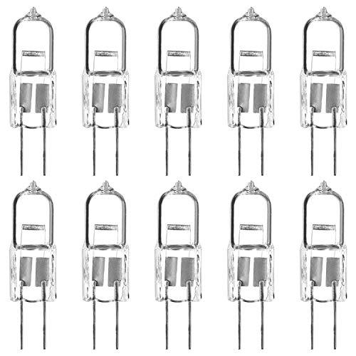 Luxrite LR20910 (10-Pack) Q10T3/G4/12V 10-Watt Halogen Pin Base 12V Light Bulb, Dimmable, 120 Lumens, G4 bi-pin Base