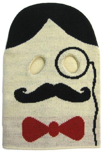 Vaudeville Handlebar Mustache Bow Tie Victorian Monocle